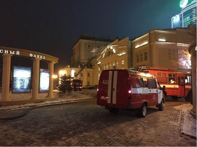 В новосибирском театре «Красный факел» после спектакля загорелась сцена