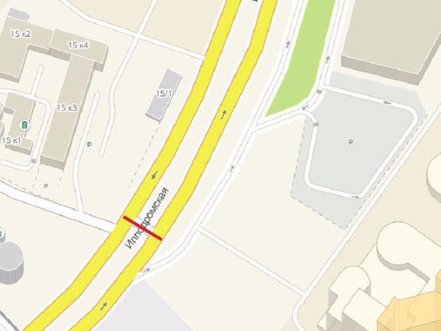 Один из разворотов на Ипподромской магистрали закрылся