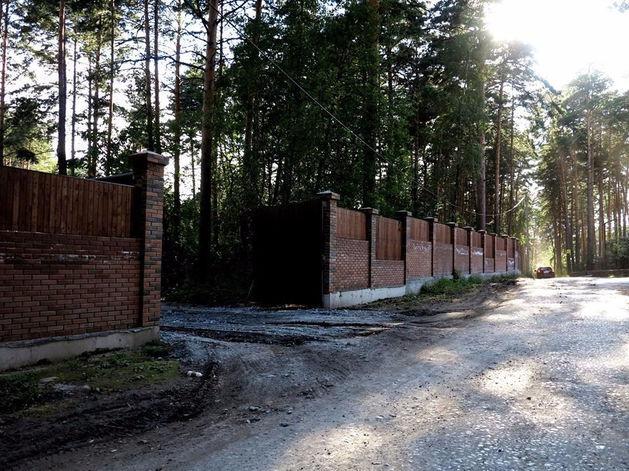 В Заельцовском бору появился забор, за которым идет расчистка территории под коттеджи